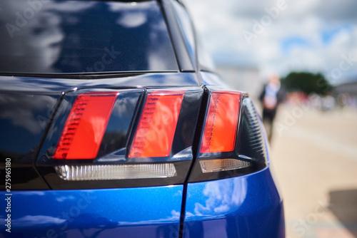 Photo  Rear headlight, new blue car