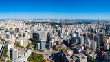 Aerial Panoramic View of Paulista Avenue region
