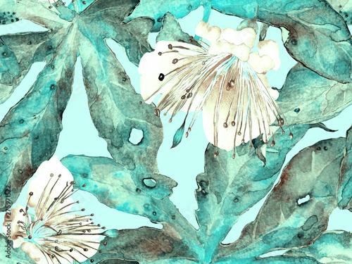 Foto auf Leinwand Künstlich Bold Flower Pattern.
