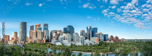Panoramic view of Calgary's skyline on a summer day. - 275982915