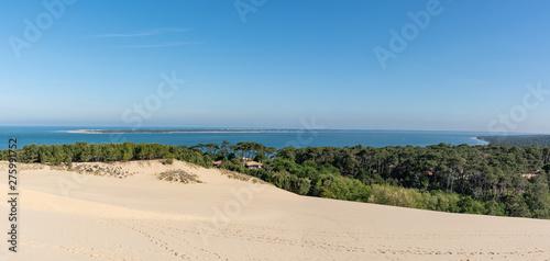 Photo BASSIN D'ARCACHON (France), l'océan, la presqu'île du Cap Ferret et le bassin vu