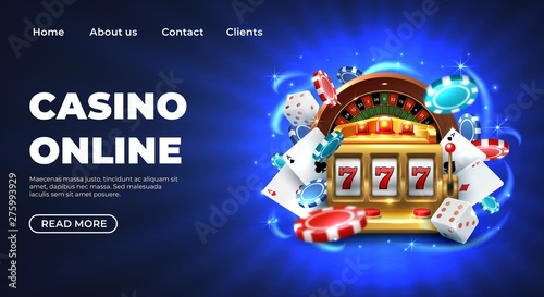 Fotografia  Casino 777 slot machine landing page template