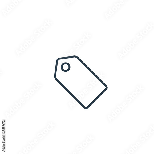 Price tag icon, Vector isolated simple line symbol - Buy