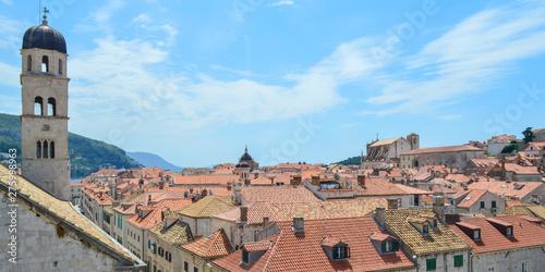Fotografie, Tablou  Ancient town Dubrovnik on June 18, 2019