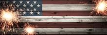 Old Vintage Wooden American Fl...
