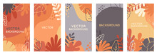 Vector Set Of Abstract Backgrounds With Copy Space For Text - Autumn Banners, Posters