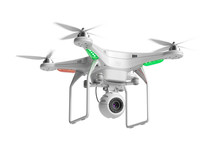 Flying Quadcopter Drone With C...