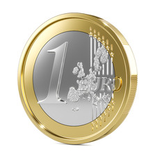 One Euro Coin 3d