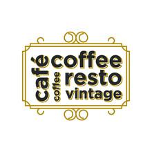 Coffee Cafe Drink Logo Label, ...