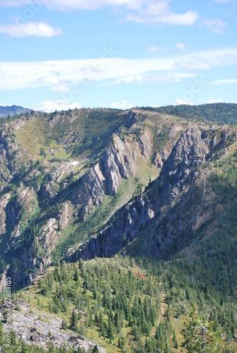 steep rocky high mountain