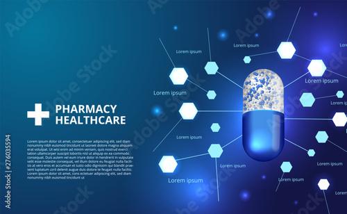 Photo  pharmacy pills capsule medicine healthcare 3D illustration
