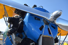 Close Up View Of Jet Propeller With Engine