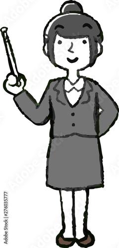 Foto auf AluDibond Vogel in Kafigen Illustration of a job-hunting girl student face and pose