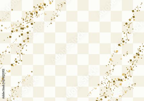 白い市松模様と金粉の背景 Wallpaper Mural