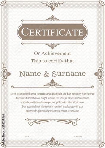Fototapeta Certificate obraz na płótnie