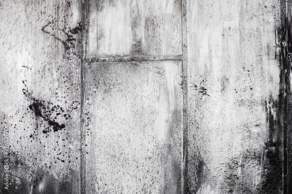 Fototapety, obrazy: Black and white surface background metal grunge texture layer