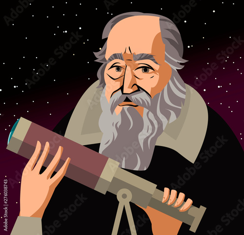 Photo galileo galilei great scientific astronomer
