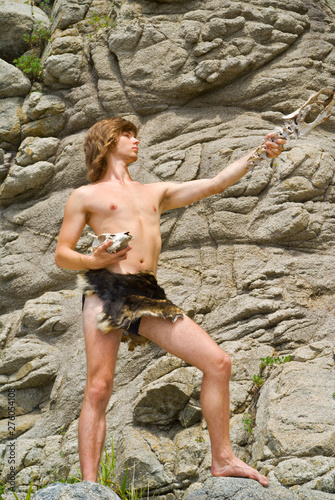 Photo Young man in loin-cloth 3