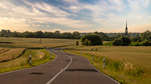 Asphalt Road Leading To The German Village