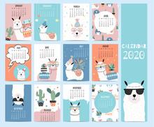 Animal Calendar 2020 With Llam...