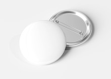 Badge On White Background 3D R...