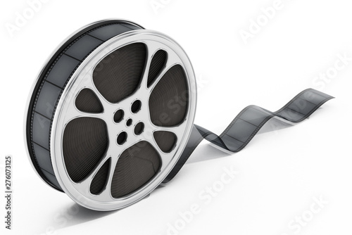 Fotografie, Tablou Film reel isolated on white background. 3D illustration