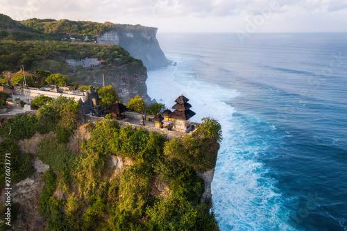 Deurstickers Bali Bali, Indonesia, Aerial View of Uluwatu Temple at Sunrise