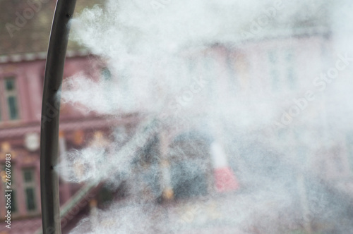 Photo Closeup of sprayer in the city