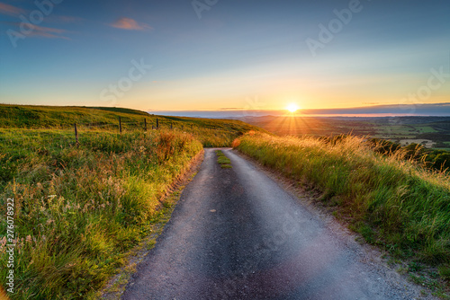 Summer sunset from Eggarton Hill