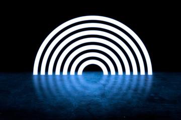 circle hole on the dark int...