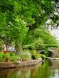 Leinwandbild Motiv japanese garden with pond