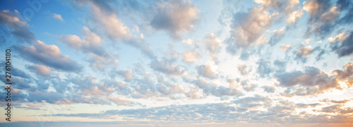 Blue sky clouds background Canvas Print