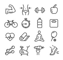 Healthy Lifestyle Icon Set