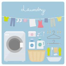 ドラム式洗濯機とお洗濯セット