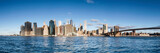 Fototapeta Nowy Jork - Manhattan skyline panorama with blue sky as background image