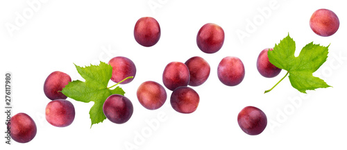 Obraz na płótnie Red grape isolated on white background