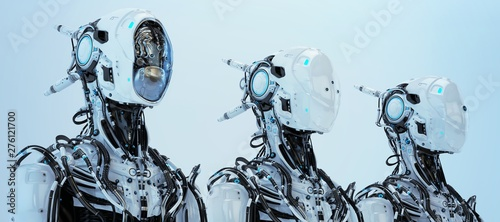 Fotomural Three modifications of robot pilot. 3d rendering