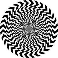Geometric Optical Illusion. White And Black Circle Pattern