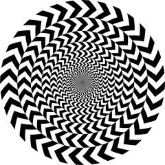 geometric optical illusion....