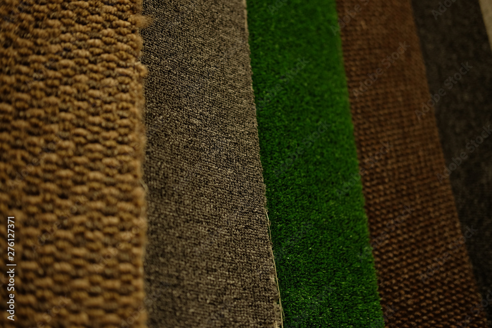 Fototapety, obrazy: Colorful carpet samples on exhibition for retail