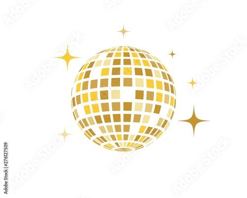 Fotografie, Obraz Disco ball vector icon illustration