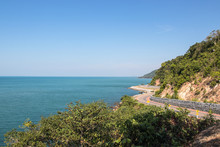 Chalerm Burapha Chonlathit Highway Is Highway Seaside At Rayong Province, Thailand