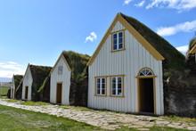 Grass-covered Houses In Glaumbaer In Iceland