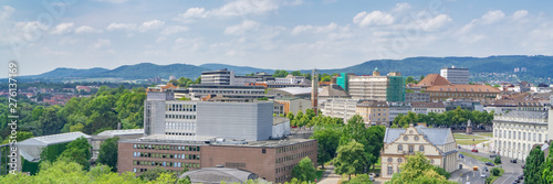 Foto auf Gartenposter Blau Jeans View of the city of Kassel in Germany from above