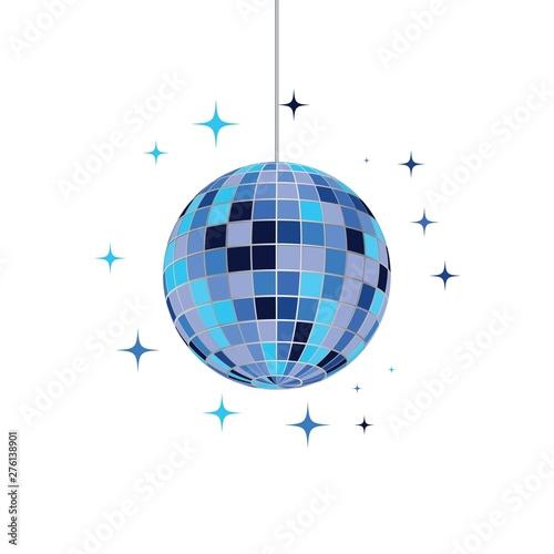 Fotografia Disco ball vector icon illustration