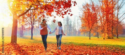 Happy Couple Enjoying The Fall Season - 276141978