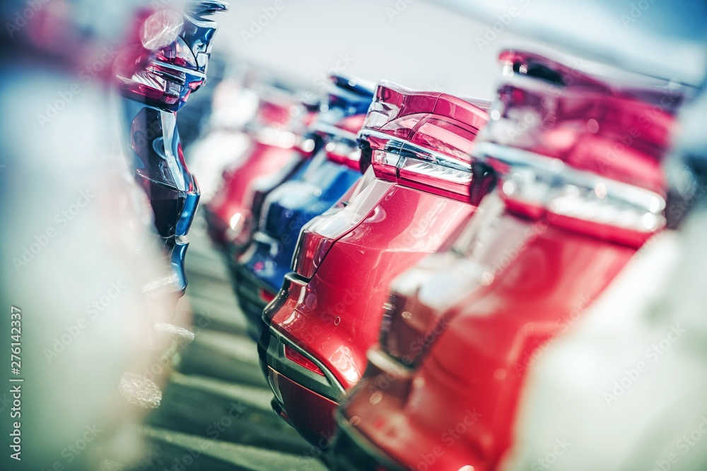 Fototapety, obrazy: Row of New Vehicle in Stock