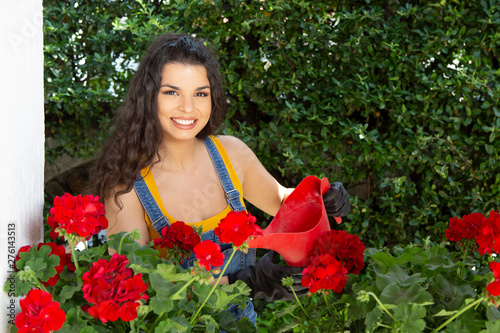 Woman Flower Garden Flowers Young Gardening Beautiful