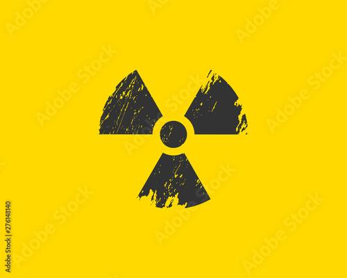 Obraz na plátně Radiation icon vector. Warning radioactive sign danger symbol.