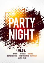 Vector Illustration Abstract Design Template, Banner Or Flyer Design For Musical Party Celebration.